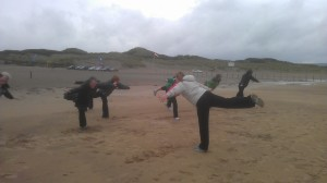 Pilates on the beach